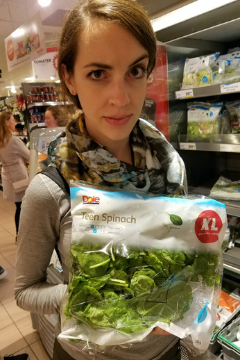 I've heard of baby spinach and regular spinach, so I guess this makes sense.