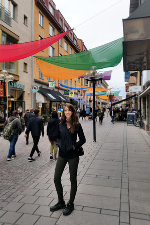 Downtown Ostersund before the music festival