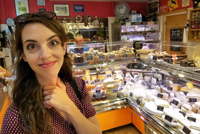 We stayed right above this cheese shop. What to choose?!??
