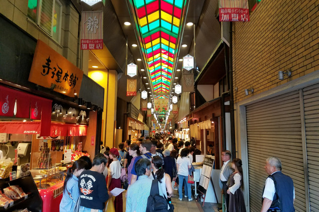 Nishiki Market, where Brandon and I immediately lost track of Sam and Rashaun. The place was so huge!