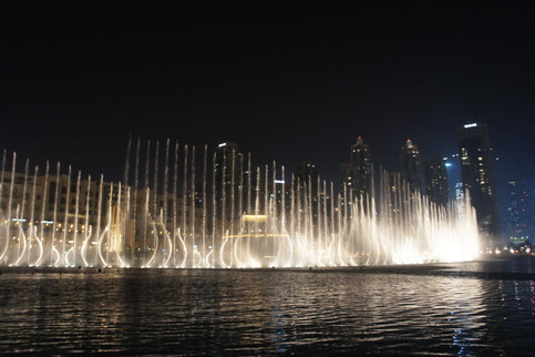 The fountain show, complete with awesome music