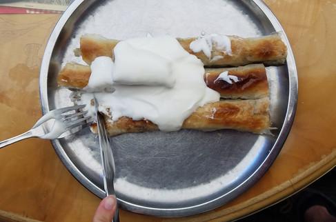 More börek (with yogurt)
