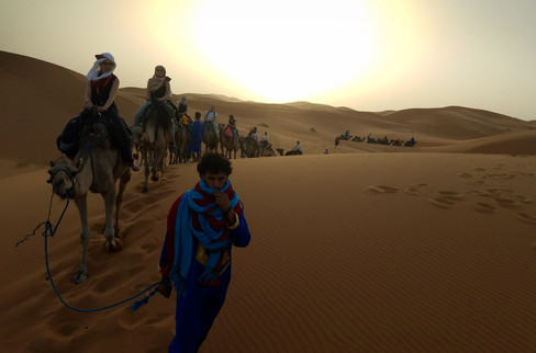 At sunrise the next morning we were back on the camels for the two-hour return trip.