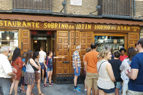 The oldest currently operating restaurant in the world, apparently a favorite of Ernest Hemingway.