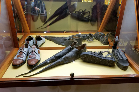 We have quite a few more photos from the sex museum, but I will spare you. Here are some phallic shoes; if you're ever in Prague, check this place out.