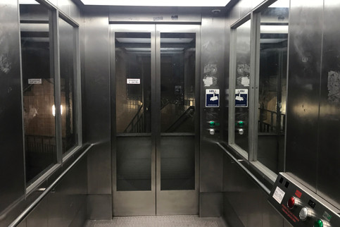 Taking an elevator down to an old tunnel