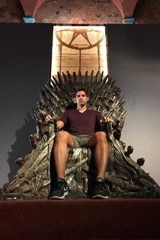 Lokrum has a museum that's half dedicated to the island's history, half to the Game of Thrones filming in nearby areas. Hence the Iron Throne.