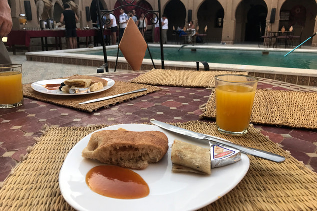 Breakfast at the hotel