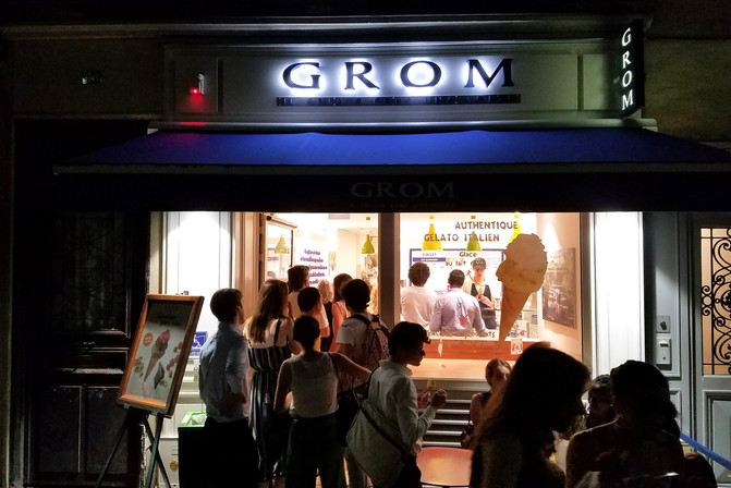This Grom (really good gelato) was dangerously close