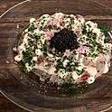 本日の魚のカルパッチョ フランス産キャビア添え / carpacchio et cavia