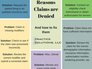 5 Common Reasons Claims are Denied and How You Can Fix Them!