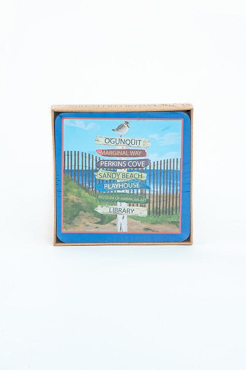 Ogunquit Sign Coasters
