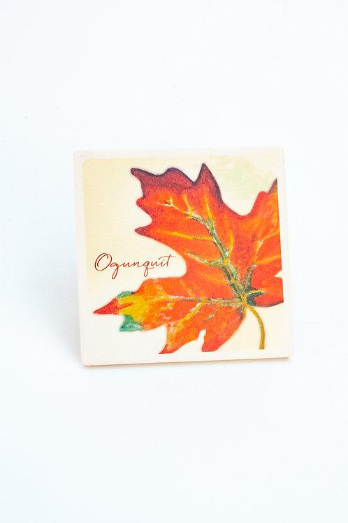 Ogunquit Leaf Coaster