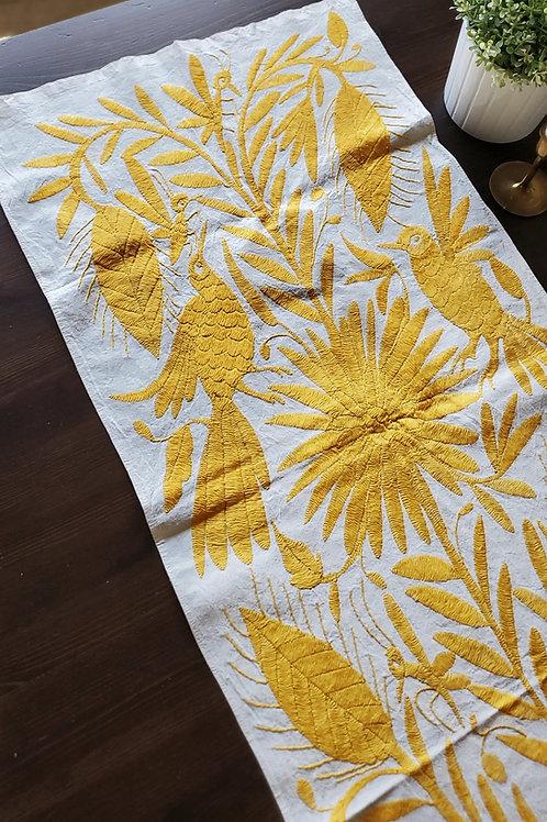 Yellow otomi, otomi fabric, otomi embroidered, mexican embroidered, yellow otomi, mexican textile, mexican fabric, otomi