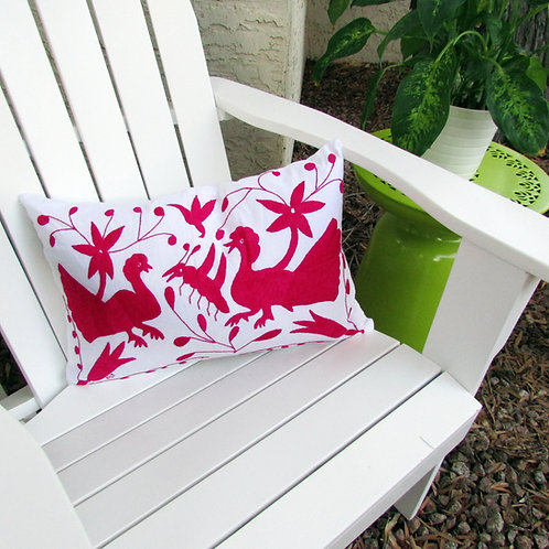 animals, bird, plants, hand made, hand woven, hand embroidered, embroidery, mexican, pillows, pillow cover
