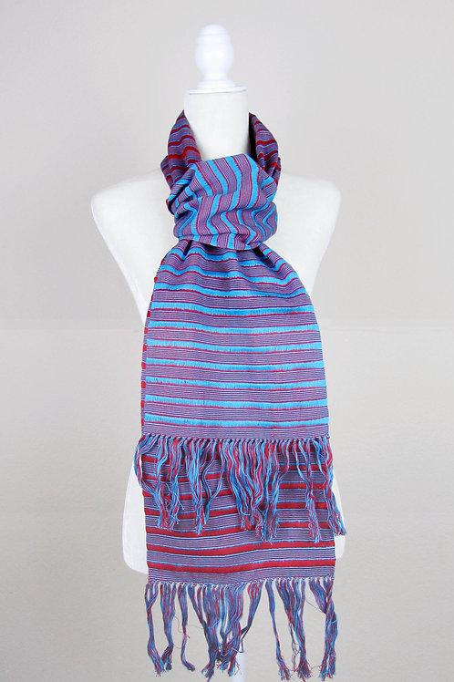 mexican scarf, hand wove scarf, mexican textile, Chiapas Textile, handmade, Maya textile, mexican apparel, bufanda mexicana