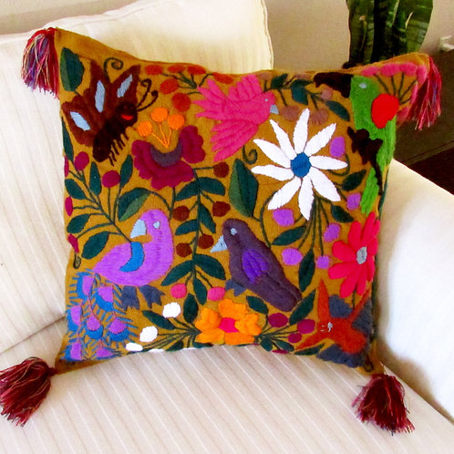 maya textile, chiapa fabric, pillow cover, pillow, mexican embroidered, mexican hand made, mexican pillow, mexican fabric