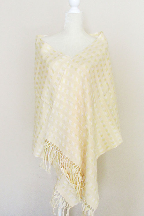 shawl light yellow, mexican rebozo, mexican textile, hand woven shawl, mexican fabric, hand made shawl, mexican, shawl, reboz