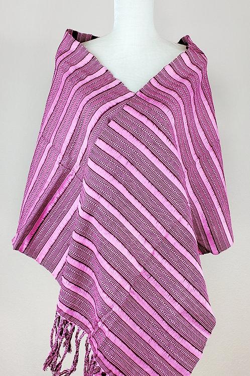 Rebozo or Shawl Pinks tones hand-woven.
