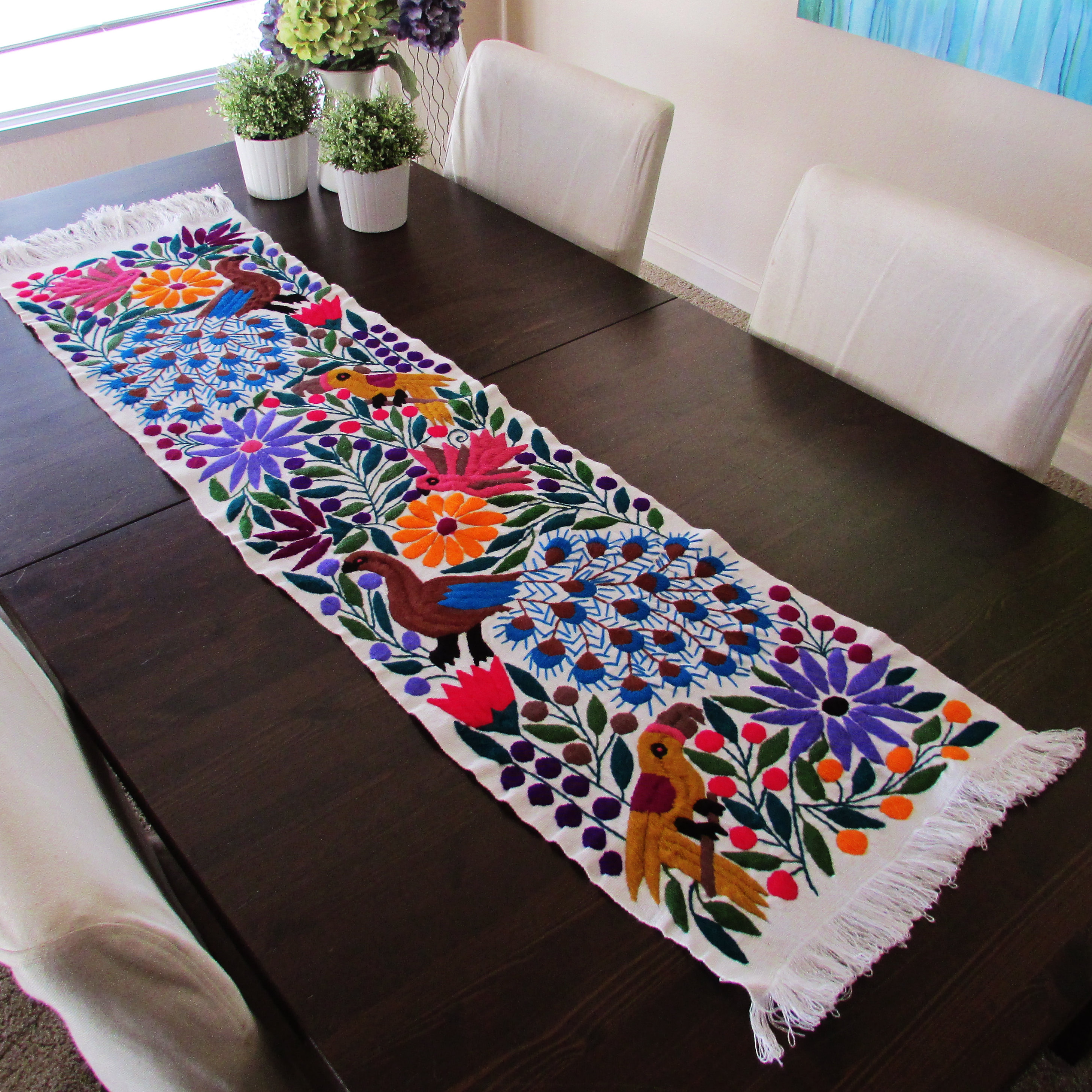 Otomi fabrics Mexican Embroidered Arte de Mi Tierra