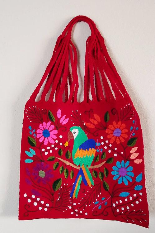 Mexican textile, Maya morral, mexican tote, Maya Textile, maya bag, Mexican embroidered, Mexican bag, animal embroidered