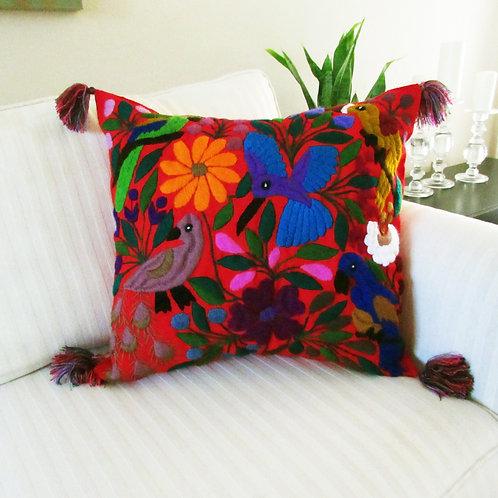 Chiapas Pillow, Maya pillow, mexican embroidery, mexican textile, mexican handmade, pillow handmade, maya embroidery, maya pi