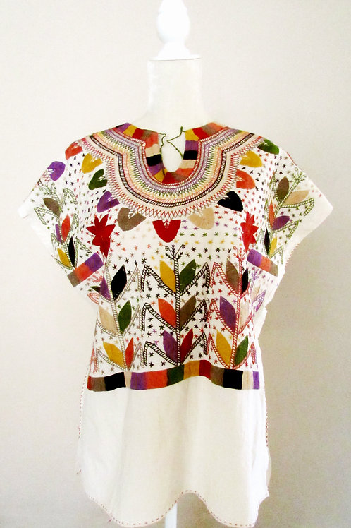 chiapas fabric, blouse hand made, mexican textile, blouse chamula colorful, mexican crewel embroidered, mexican blouse, mexic