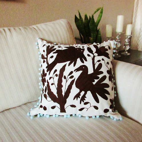 otomi pillow cover,  otomi fabric, pillow cover, mexican embroidery, mexican textile, mexican pillow, mexican textile