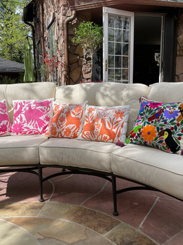 Chiapas pillow and otomi pillow cover client picture