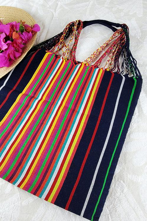 Chiapas tote handmade wove in backstrap loom bag