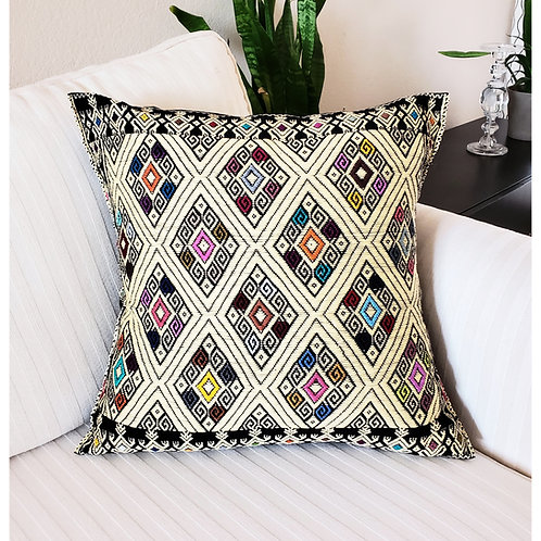 Mexican Pillow, Brocade pillow cover, Eclectic pillow cover, Mexican Textile, maya textile, San Andres larrainzar texitile