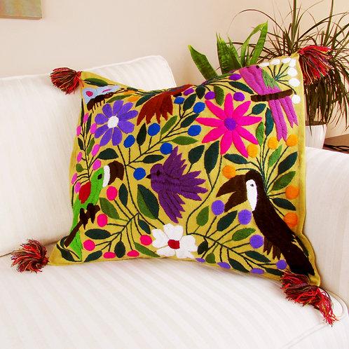 Chiapas Pillow, Mexican Textile, Mexican embroidery, Handwove, Maya fabric, Chiapas textile, mexican decor, mexican pillow,