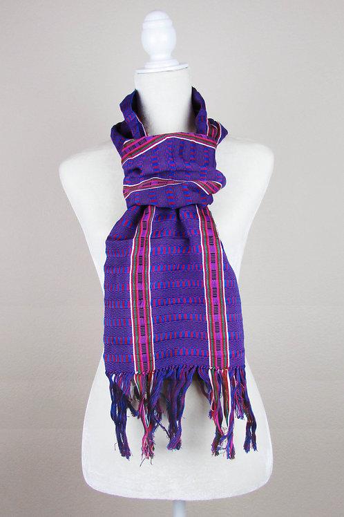 Scarf hand woven, maya textile, mexican textile, mexican embroidery, mexican apparel, mexican garment, maya backstrap loom