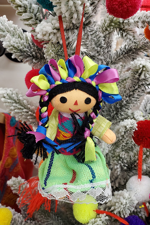 Doll, Little, mexican, hand woven, hand made, chiapas, mexican doll,