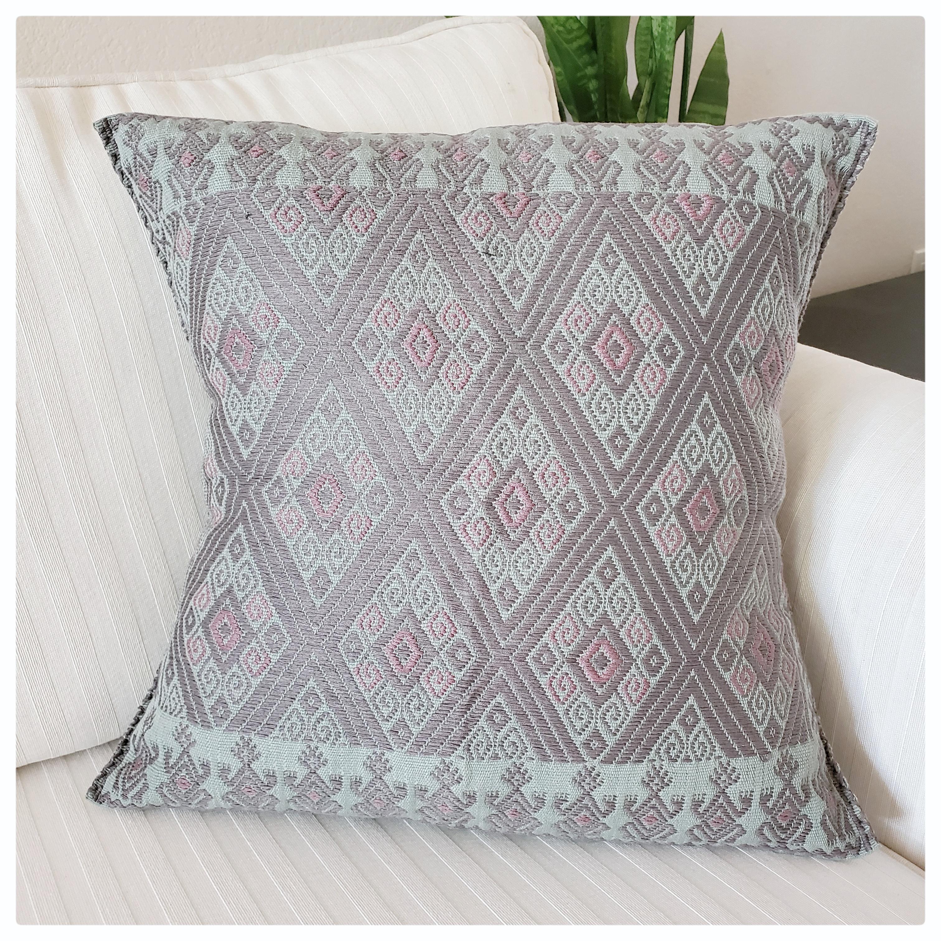San Andres Larrairzar textile, maya hand woven, mexican pillow, mexican textile, maya mexican