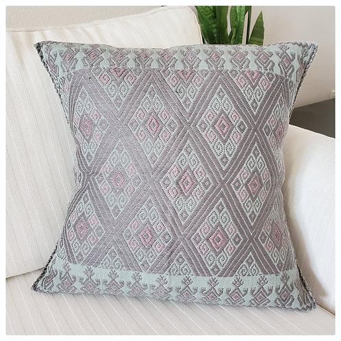 Mexican pillow, maya textile, Chiapas Pillow, 16x16 pillow cover, maya handwoven, maya textile, mexican texiles,