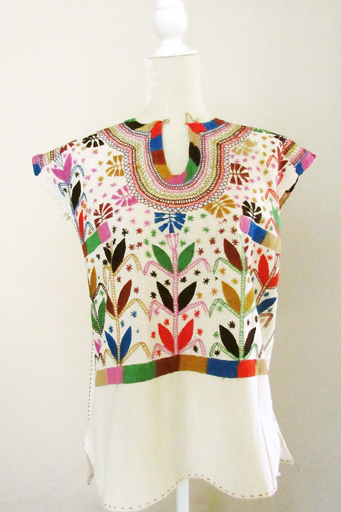 mexican textile, mexican blouse, blouse chamula colorful, mexican crewel embroidery, blouse handmade, mexican fabric, chiapas