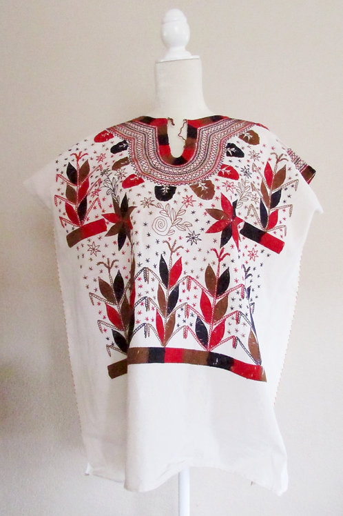 mexican textile, mexican blouse, blouse hanmade, blouse clorful, mexican fabric, mexican crewel embroidered,