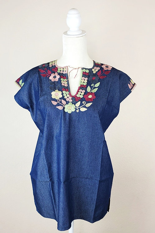 Mexican blouse, Mexican hand-embroidered, Mexican Embroidered, Mexican blouse, Mexican apparel, Chiapas Blouse, Maya textile