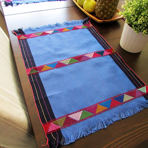 blue placemats, mexican blue linens, mexican placemats, mexican table linens.