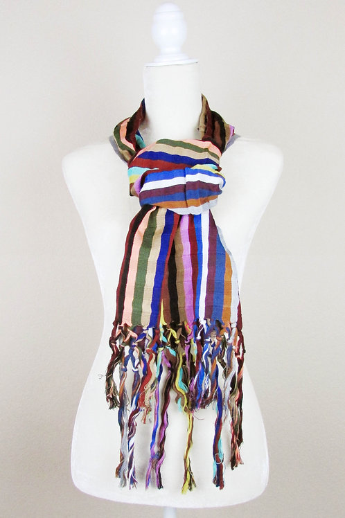 Scarf hand woven, mexican textile, mexican apparel, mexican garment, maya textile, scarf backstrap loom, mexican embroidery