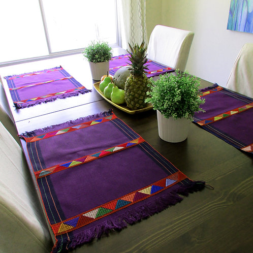 Placemats, Purple placemats, Mexican Placemats, Mexican table linene, Mexican table cloth