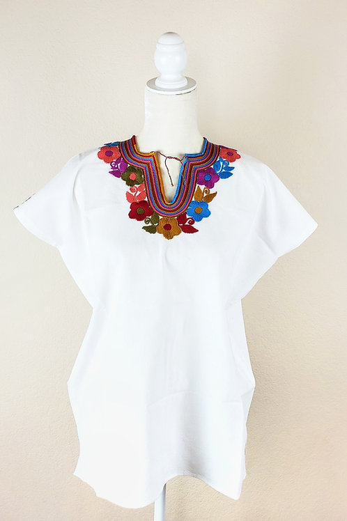 Mexican blouse, Mexican hand embroidered, Mexican apparel, Mexican handmade, Chiapas Blouse, Maya Blouse, Mexican Textile