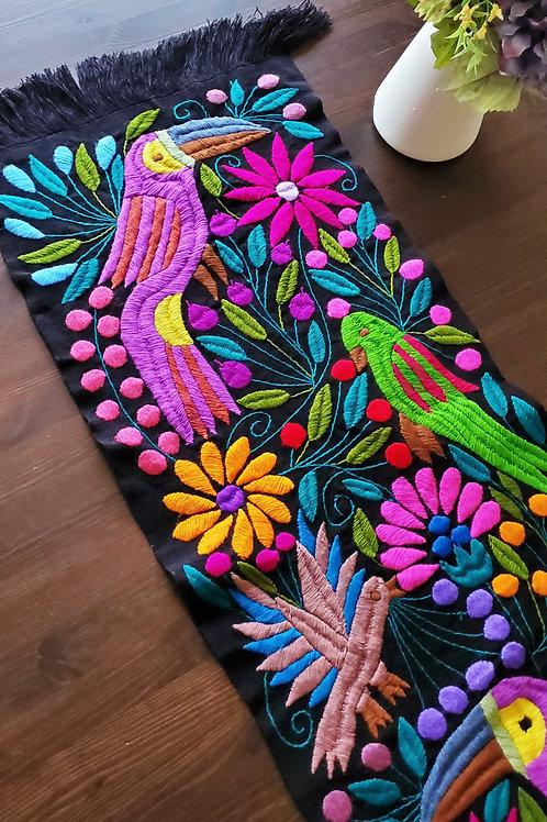 Mexican Textile, mexican embroidered, mexican linen, mexican toucan tapestry, maya embroidered, mexican decor,