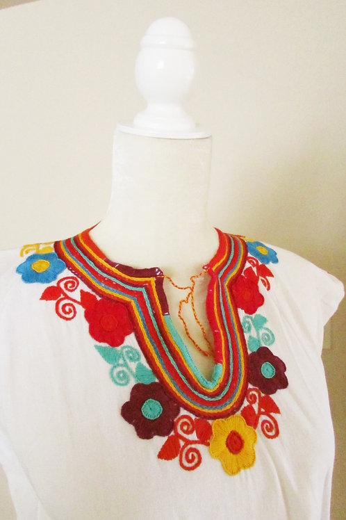 blouse white, mexican blouse, blouse hand made, mexican textile, mexican