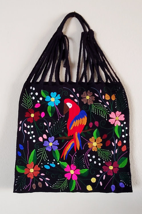 Mexican bag, Mexican embroidered bag, Mexican morral, mexican tote, mexcian accessories, maya bag, Guacamaya bag