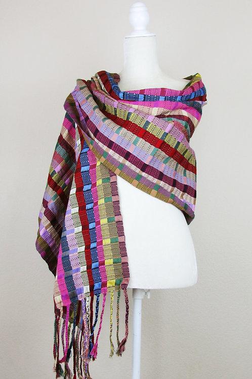Shawl, Mexican Sawn, rebozo, maya textile, handwove shawl, mexican textile, mexican apparel, mexican garment, backstrap loom