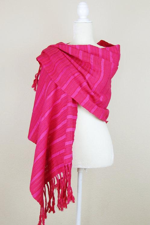 Shawl fuchsia, Shawl, Mexican Shawl, shawl pink, mexican apparel, mexican garment,  textile, maya textile,
