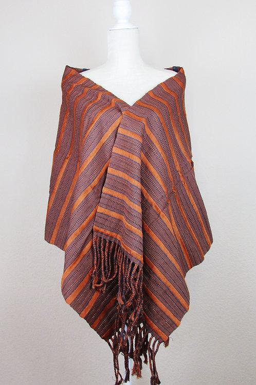 Mexican rebozo, Mexican Shawl, handwove shawl, garment, mexican apparel, contemporary shawl,orange shawl, mexican textile,