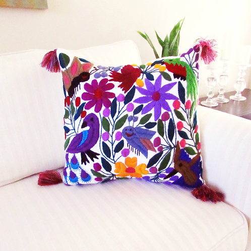 Animal Pillow Chiapas, Mexican Pillow, Mexican embroidery, Mexican textile, Chiapas Pillow, handwoven, Maya pillow